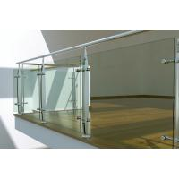 Buy cheap Interior Stainless Steel glass balustrade fittings, laminated glass balustrade from wholesalers