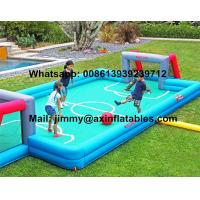 Buy cheap China Price Customized Kids Inflatable Soccer Field 0.9MM PVC Tarpaulin Commercial Inflatable Football Field For Sale from wholesalers