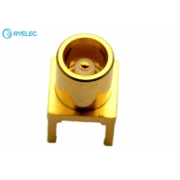 Buy cheap Brass body Application  MCX Female PCB Board Straight RF Connector Adapter from wholesalers