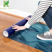 Buy cheap 0.03-0.2mm Clear Blue Self Adhesive Hardwood Floor Protection Film from wholesalers