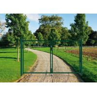 Buy cheap PVC Coated Welded Wire Fence Galvanised Square Mesh Fencing Green Color from wholesalers