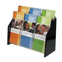 Buy cheap CAM-BH001 Durable Free Logo Print 6 pockets Acrylic Brochure Holder for Bank Company Exhibition  from wholesalers