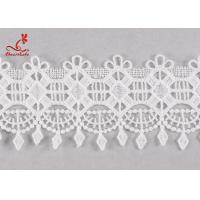Buy cheap Fancy 5cm Fancy Water Soluble Flat Lace Trim With Embroidered Patterns For from wholesalers