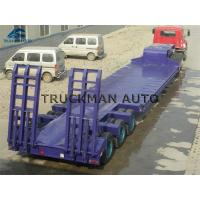 Buy cheap 3 Line 6 Axles Truck Trailer Low Bed , Low Bed Lorry  Loading 100 Tons from wholesalers