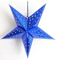 Buy cheap Bright Brue chinese handmade paper star paper lanterns from wholesalers