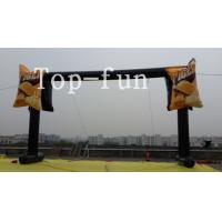 Buy cheap PVC tarpaulin black  inflatable led light advertising arch,water proof and fire retardant from wholesalers