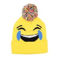 Buy cheap 2018 Pontique Unisex Emoji Pompom Beanie Hat Kids Adults, Funny Knit Winter Cap from wholesalers