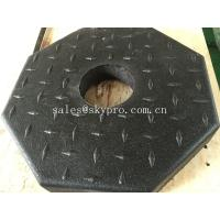 Buy cheap Outside use black pole rubber pedestal / octagon crumb rubber base support from wholesalers