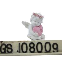 China Custom Cheap Resin Decorative Lovely Resin Baby Angels Figurine Resin Hug Heart Cupid Ornament on sale