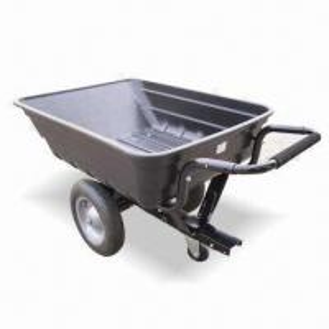 Buy cheap 8ft³ Plastic Push and Tow Dump Cart with 500lb Maximum Load Capacity product