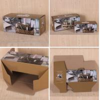 Buy cheap E Flute Custom Cup Corrugated Paper Box , White / Brown Carton Packing Boxes in Market product