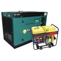 Buy cheap 6KVA Diesel Generators With Four Wheels Portable Silent Type Or Open Type Generator Air Cooled from wholesalers