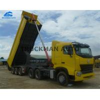Buy cheap Custom Body Size Dump Semi Trailer Easily Operating With Stronger Hooks from wholesalers