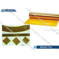 Buy cheap C26800 Copper - Zinc Alloys Brass Foil Roll Sheet for Connectors , Radiators from wholesalers