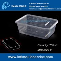 Buy cheap PP 750ml clear thin wall rectangular plastic containers mould manufacturer and supplier from wholesalers