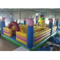 Buy cheap Cartoon Peppa Pig Castle Combo Bounce House Maze With Rocking Climbing Wall from wholesalers