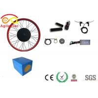 China Lithium Battery Type Fat Bike Electric Motor Kit , Fat Tire Ebike Kit With Hall Sensor on sale