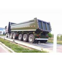 Buy cheap Multi Axles Gravel Transport End Tipping Semi Trailer / Rear Dump Semitrailer For Truck from wholesalers