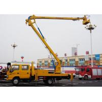 China Telescopic Type Aerial Lift Platform Truck / Truck Mounted Boom Lift Vehicle on sale