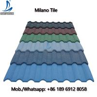 Buy cheap San-gobuild Storm Resistance 0.4 mm Milano Tile Zinc Aluminum Corrugated Roofing Sheet for Nigeria from wholesalers