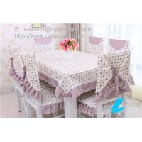 Buy cheap Cotton floral table cloth and chair cover set for six seater table, table linens wholesale from wholesalers