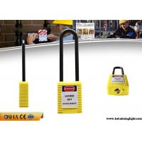 Buy cheap Yellow Colour English PVC Tag Safety Lockout Padlocks 76mm Sahckle Length from wholesalers