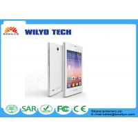 Buy cheap White 4.0 Inch Small Touch Screen Cell Phones MT6572 Dual Sim Wifi Bluetooth from wholesalers