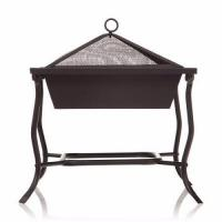 Buy cheap 42cm large square Iron patio brazier bbq grill for home garden picnic from wholesalers