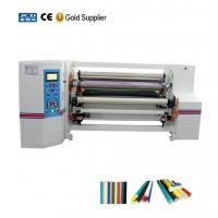 Buy cheap Automatic double shafts adhesive tapes jumbo roll rewinding machine from wholesalers