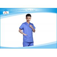 Buy cheap Stretch Material Blue Operating Theatre Scrub Suit Design Hospital Uniforms from wholesalers