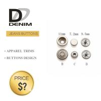 Buy cheap Professional Denim Metal Buttons , Tapered Pearl Snap Buttons Custom Size product