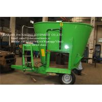 Buy cheap Stationary Feed Mixer For Farm Animal Feeding Mixing Vertical Green Color from wholesalers