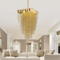 Buy cheap black / Gold chain swag chandelier lighting kit for home lighting  (WH-CC-19) from wholesalers