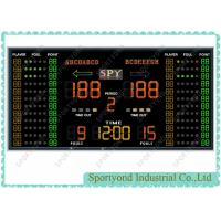 Buy cheap Indoor Sporting Electronic Basketball Scoreboard With High Brightness LED Display from Wholesalers
