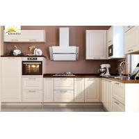 Buy cheap Jane White Wood Kitchen Cabinets Marble Surface Aluminum Alloy Edge Banding from wholesalers