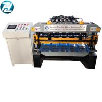 Buy cheap High Speed Roofing Sheet Roll Forming Machine With Motor Cutting Device from wholesalers