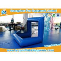 Buy cheap Blue Factory air sealed inflatable football polo goal sport game inflatable soccer goal post from wholesalers