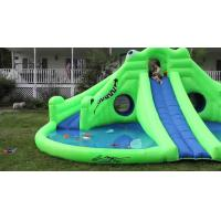 Buy cheap Commercial Inflatable Water Park , Green Inflatable Water Slide Pool from wholesalers