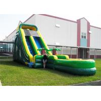 Buy cheap Durable Plato PVC Tarpaulin Inflatable Water Slides , Inflatable Garden Water Slide from wholesalers