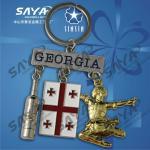 Buy cheap Georgia metal souvenir keychain,metal keyring from wholesalers