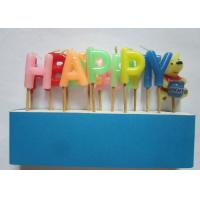 Buy cheap Fancy Alphabet Letter Birthday Candles Flameless Non - Toxic 2.8cm Height from wholesalers