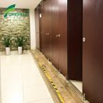 Buy cheap Bathroom Waterproof Wood Grain Color Partition Door from wholesalers
