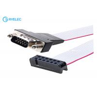 Buy cheap 2x6P IDC To 15P HDB Male Idc Connector Computer Ribbon Cable , Flexible Flat Cable from wholesalers
