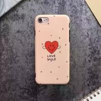 Buy cheap TPU IMD Black Edge Scrub Star Love Smile Face Couple Style Cell Phone Case Cover For iPhone 7 6s Plus from wholesalers
