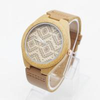 Buy cheap OEM Logo Unisex Bamboo Wrist Watch Leather Belt Watches For Mens from wholesalers