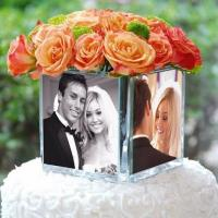 Buy cheap Unique Acrylic Vase With Photo Frame / Acrylic Photo Four Sides Frame Vase from wholesalers