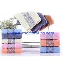 Buy cheap Bulk fluffy luxury embroidered organic cotton face turkish towels from wholesalers