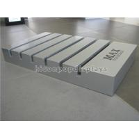 Buy cheap Wood Slotted Tile Display Racks Free Standing Custom Size Tile Showroom Display from wholesalers