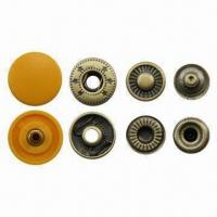 Buy cheap 15mm yellow plastic top press spring snap buttons, 24L product