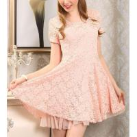 Buy cheap Cotton Lace Short Flared Dresses Above Knee Length For Women from wholesalers